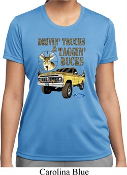 Image of Ladies Ford Shirt Driving and Tagging Bucks Moisture Wicking Shirt