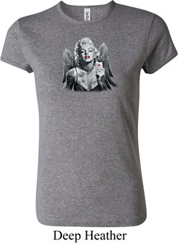 Ladies Marilyn Monroe Shirt Marilyn Butterfly Crewneck Tee T-Shirt