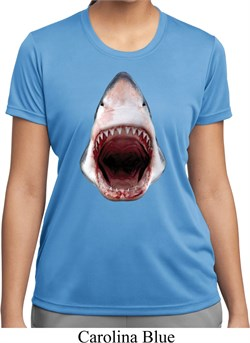 Ladies Shark Shirt 3D Shark Moisture Wicking Tee T-Shirt