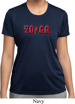 Image of Ladies Shirt Classic Rock Yoga Moisture Wicking Tee T-Shirt