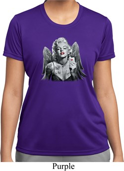 Ladies Shirt Marilyn Butterfly Moisture Wicking Tee T-Shirt