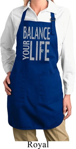 Image of Ladies Yoga Apron Balance Your Life Full Length Apron with Pockets