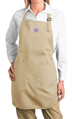 Image of Ladies Yoga Apron Layered Flower Patch Full Length Apron with Pockets
