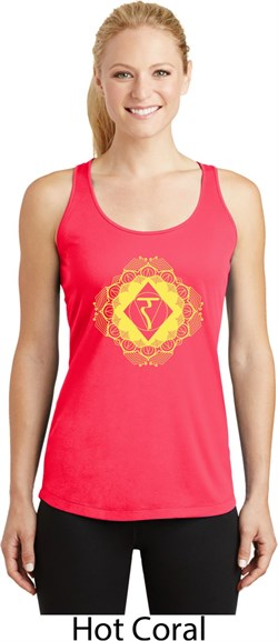Image of Ladies Yoga Diamond Manipura Dry Wicking Racerback