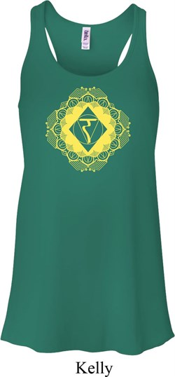 Image of Ladies Yoga Diamond Manipura Flowy Racerback