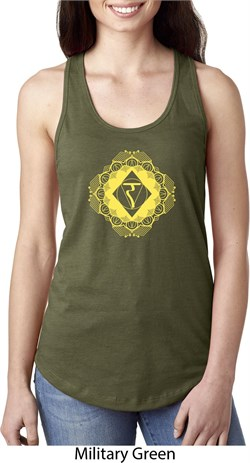Image of Ladies Yoga Diamond Manipura Ideal Racerback