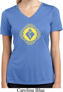 Image of Ladies Yoga Diamond Manipura Moisture Wicking V-neck