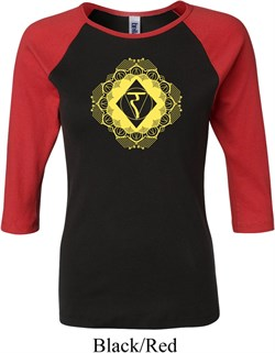 Image of Ladies Yoga Diamond Manipura Raglan Shirt