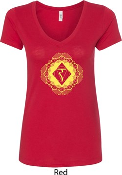 Image of Ladies Yoga Diamond Manipura V-Neck