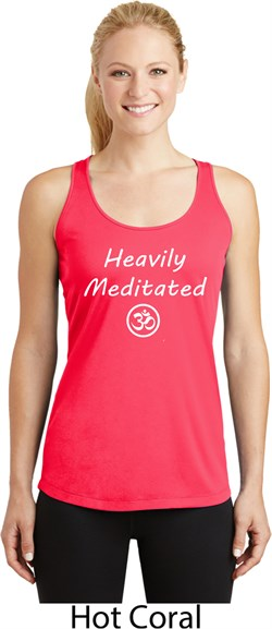 Image of Ladies Yoga Heavily Meditated with OM Dry Wicking Racerback