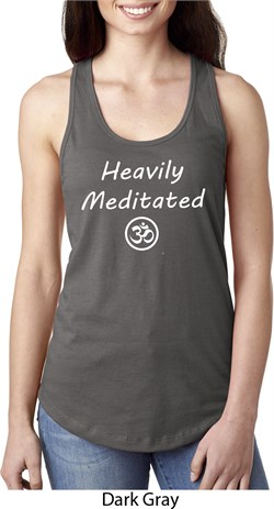 Image of Ladies Yoga Heavily Meditated with OM Ideal Racerback