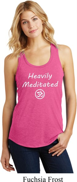 Image of Ladies Yoga Heavily Meditated with OM Racerback Tanktop