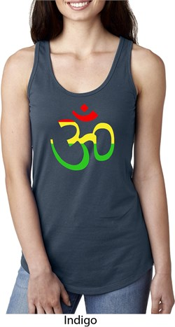 Image of Ladies Yoga Rasta Aum Ideal Racerback