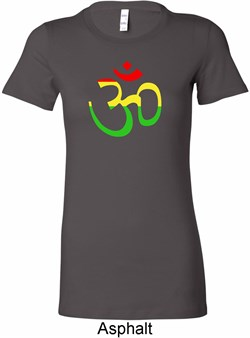 Image of Ladies Yoga Rasta Aum Longer Length T-shirt