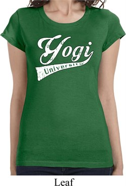 Image of Ladies Yoga Shirt Yogi University Longer Length Tee T-Shirt