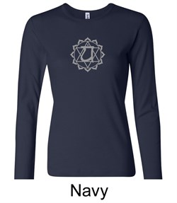 Ladies Yoga T-shirt ? Anahata Heart Chakra Long Sleeve Shirt
