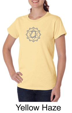 Ladies Yoga T-shirt ? Anahata Heart Chakra Organic Tee Shirt