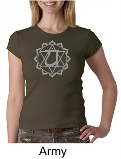 Ladies Yoga T-shirt ? Anahata Heart Chakra Crew Neck Shirt