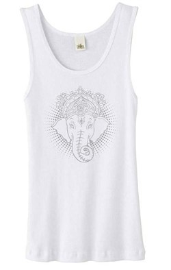 Ladies Yoga Tanktop Iconic Ganesha Organic Tank Top