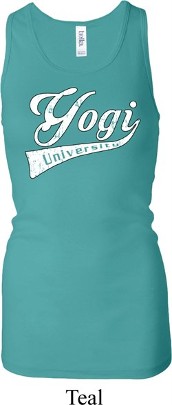 Image of Ladies Yoga Tanktop Yogi University Longer Length Racerback Tank Top