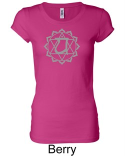 Ladies Yoga T-shirt ? Anahata Heart Chakra Longer Length Shirt