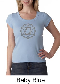Ladies Yoga T-shirt ? Anahata Heart Chakra Scoop Neck Shirt