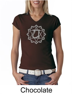 Ladies Yoga T-shirt ? Anahata Heart Chakra V-neck Shirt