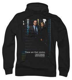 Image of Law & Order: SVU Hoodie Sweatshirt SVU Black Adult Hoody Sweat Shirt