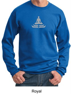 Mens Yoga Sweatshirt? Lotus Pose Meditation Sweat Shirt