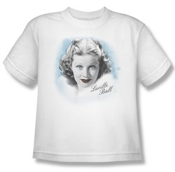 Image of Lucille Lucy Ball Kids Shirt In Blue White Youth Tee T-Shirt