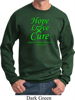 Image of Lymphoma Cancer Awareness Hope Love Cure Sweatshirt