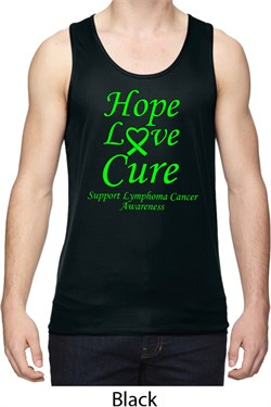 Image of Lymphoma Cancer Hope Love Cure Dry Wicking Tank Top