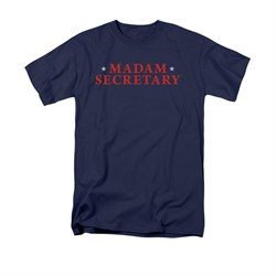 Image of Madam Secretary Shirt Logo Navy T-Shirt