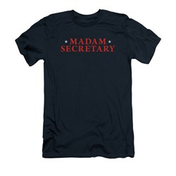 Image of Madam Secretary Shirt Slim Fit Logo Navy T-Shirt