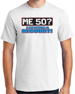 Image of 50th Birthday T-shirt Funny - Me 50 Years Adult Royal Tee Shirt