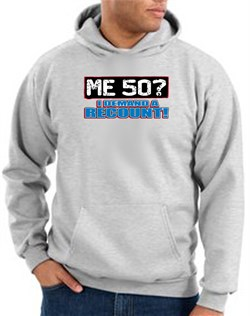 Image of 50th Birthday Hooded Hoodie - Funny Me 50 Years Ash Hoody Sweatshirt