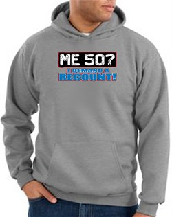 Image of 50th Birthday Hooded Hoodie Funny Me 50 Years Athletic Heather Hoody