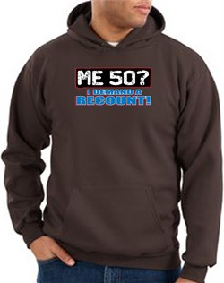 Image of 50th Birthday Hooded Hoodie Funny Me 50 Years Brown Hoody Sweatshirt