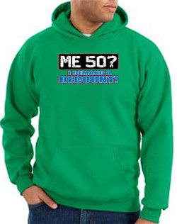 Image of 50th Birthday Hooded Hoodie - Funny Me 50 Years Kelly Green Hoody