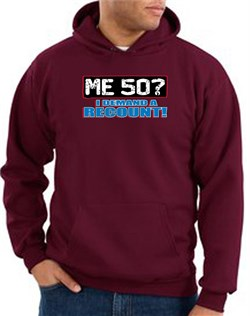 Image of 50th Birthday Hooded Hoodie Funny Me 50 Years Maroon Hoody Sweatshirt