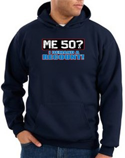 Image of 50th Birthday Hooded Hoodie Funny Me 50 Years Navy Hoody Sweatshirt