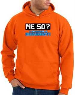 Image of 50th Birthday Hooded Hoodie Funny Me 50 Years Orange Hoody Sweatshirt