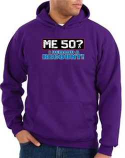 Image of 50th Birthday Hooded Hoodie Funny Me 50 Years Purple Hoody Sweatshirt