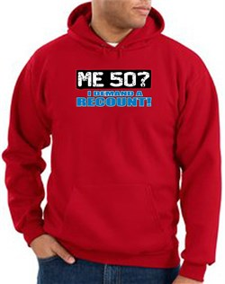 Image of 50th Birthday Hooded Hoodie - Funny Me 50 Years Red Hoody Sweatshirt