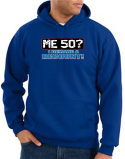 Image of 50th Birthday Hooded Hoodie Funny Me 50 Years Royal Hoody Sweatshirt