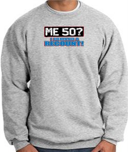 Image of 50th Birthday Sweatshirt - Me 50 Years Athletic Heather Sweat Shirt