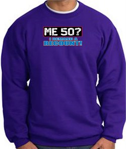 Image of 50th Birthday Sweatshirt - Funny Me 50 Years Purple Sweat Shirt