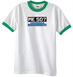 Image of 50th Birthday Ringer T-shirt Funny Me 50 Years White/Kelly Tee Shirt