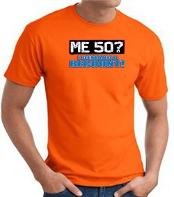 Image of 50th Birthday T-shirt Funny - Me 50 Years Adult Orange Tee Shirt