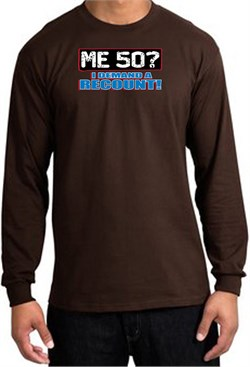 Image of 50th Birthday Long Sleeve Shirt - Funny Me 50 Years Brown Longsleeve